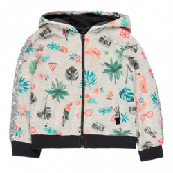 h 65 - SUDADERA NIÑA ESTAMPADA 'TROPICAL SAFARI' DE BOBOLI